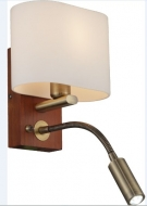 INL-3095W-02Antique brass & Walnut